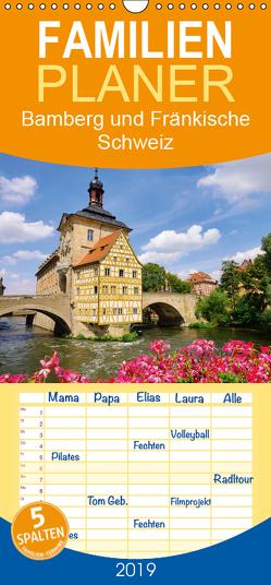 Bamberg und Fränkische Schweiz – Familienplaner hoch (Wandkalender 2019 , 21 cm x 45 cm, hoch) von LianeM
