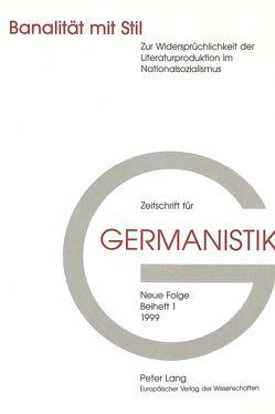 Banalität mit Stil von Delabar,  Walter, Denkler,  Horst, Schütz,  Erhard