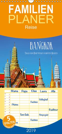 Bangkok – Thailands Hauptstadt in bunten Bildern – Familienplaner hoch (Wandkalender 2019 , 21 cm x 45 cm, hoch) von Müller,  Christian