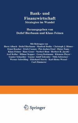 Bank- und Finanzwirtschaft von Bierbaum,  Detlef, Feinen,  Klaus