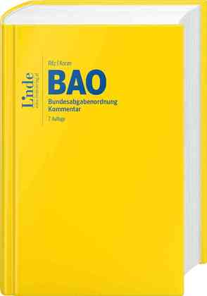 BAO | Bundesabgabenordnung von Koran,  Birgitt, Ritz,  Christoph
