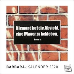 BARBARA. 2020 – Origineller Wandkalender von DUMONT – Straßenschilder mit Botschaft – Streetart-Kunst – Quadratformat 24 x 24 cm von Barbara., DUMONT Kalenderverlag