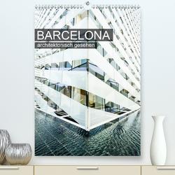 Barcelona, architektonisch gesehen (Premium, hochwertiger DIN A2 Wandkalender 2020, Kunstdruck in Hochglanz) von Grossbauer,  Sabine