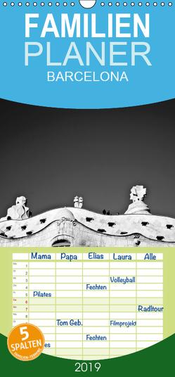 BARCELONA [black/white] – Familienplaner hoch (Wandkalender 2019 , 21 cm x 45 cm, hoch) von photography [Daniel Slusarcik],  D.S