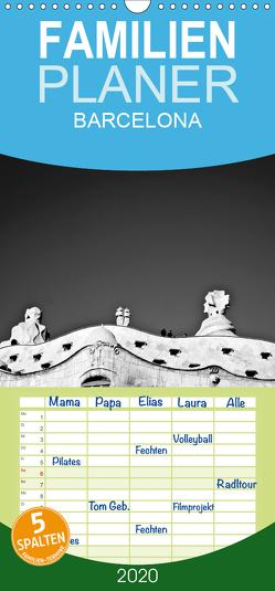 BARCELONA [black/white] – Familienplaner hoch (Wandkalender 2020 , 21 cm x 45 cm, hoch) von photography [Daniel Slusarcik],  D.S