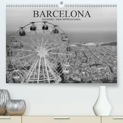 Barcelona Schwarz / Weiß Impressionen (Premium, hochwertiger DIN A2 Wandkalender 2020, Kunstdruck in Hochglanz) von Meutzner,  Dirk