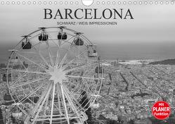 Barcelona Schwarz / Weiß Impressionen (Wandkalender 2021 DIN A4 quer) von Meutzner,  Dirk