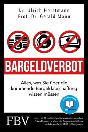 Bargeldverbot von Halver,  Robert, Horstmann,  Ulrich, Mann,  Gerald