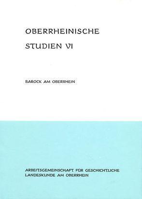 Barock am Oberrhein von Press,  Volker, Reinhard,  Eugen, Schwarzmaier,  Hansmartin