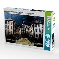 Barockschloss Friedrichswerth im Landkreis Gotha/Thüringen 1000 Teile Puzzle quer von Flori0,  k.A.