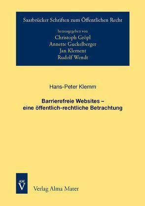Barrierefreie Websites – eine öffentlich-rechtliche Betrachtung von Klemm,  Hans-Peter