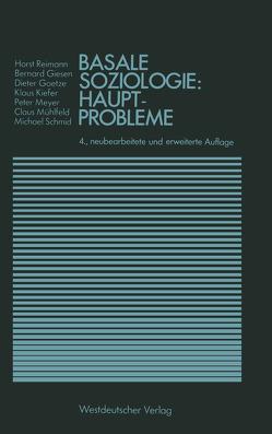 Basale Soziologie: Hauptprobleme von Reimann,  Horst