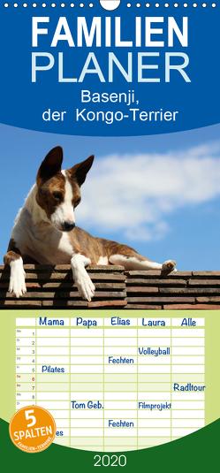 Basenji, der Kongo-Terrier – Familienplaner hoch (Wandkalender 2020 , 21 cm x 45 cm, hoch) von Wobst,  Petra