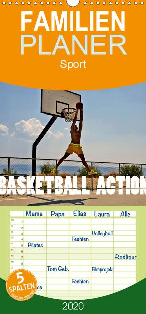 Basketball Action – Familienplaner hoch (Wandkalender 2020 , 21 cm x 45 cm, hoch) von Robert,  Boris