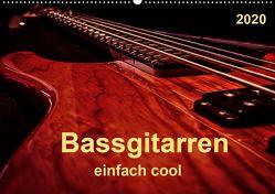 Bassgitarren – einfach cool (Wandkalender 2020 DIN A2 quer) von Roder,  Peter