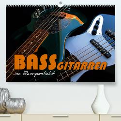 Bassgitarren im Rampenlicht (Premium, hochwertiger DIN A2 Wandkalender 2021, Kunstdruck in Hochglanz) von Bleicher,  Renate