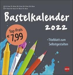 Bastelkalender anthrazit groß 2022 von Heye
