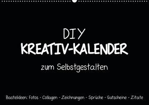 Bastelkalender: DIY Kreativ-Kalender -schwarz- (Wandkalender 2020 DIN A2 quer) von Speer,  Michael