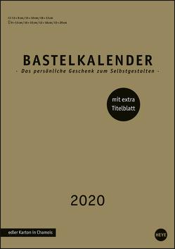 Bastelkalender gold A4 Kalender 2020 von Heye