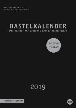 Bastelkalender schwarz A4 – Kalender 2019 von Heye