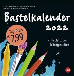 Bastelkalender schwarz groß 2022 von Heye