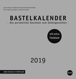 Bastelkalender silber groß – Kalender 2019 von Heye