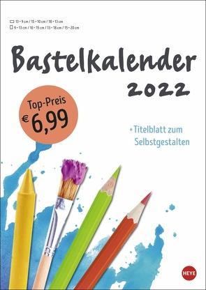 Bastelkalender weiß A4 2022 von Heye