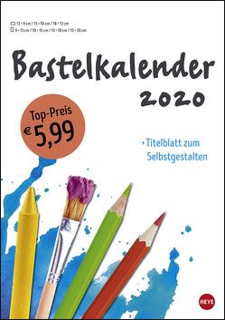 Bastelkalender weiß A4 Kalender 2020 von Heye