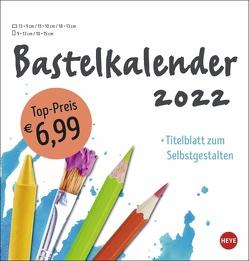 Bastelkalender weiß mittel 2022 von Heye