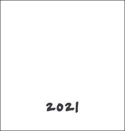 Bastelkalender weiß mittel Kalender 2021 von Heye