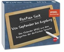 Bastian Sick Tagesabreißkalender 2022 von Heye, Sick,  Bastian