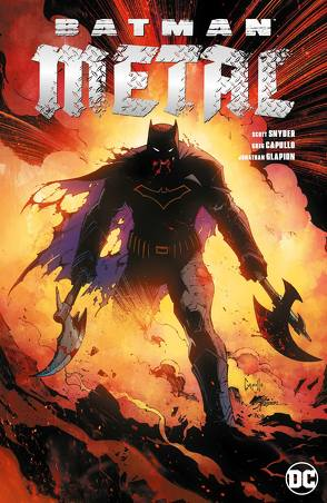 Batman Metal Sammelband von Capullo,  Greg, Jimenez,  Jorge, Kruhm,  Ralph, Kubert,  Andy, Lee,  Jim, Mahnke,  Doug, Morrison,  Grant, Porter,  Howard, Romita Jr.,  John, Snyder,  Scott, Tynion IV,  James, Williamson,  Joshua