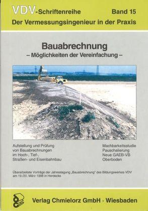 Bauabrechnung – Möglichkeiten der Vereinfachung von Klemp,  Dieter