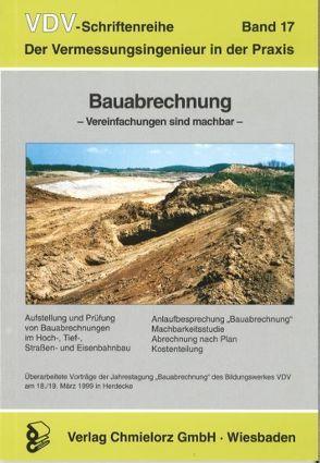 Bauabrechnung von Klemp,  Dieter
