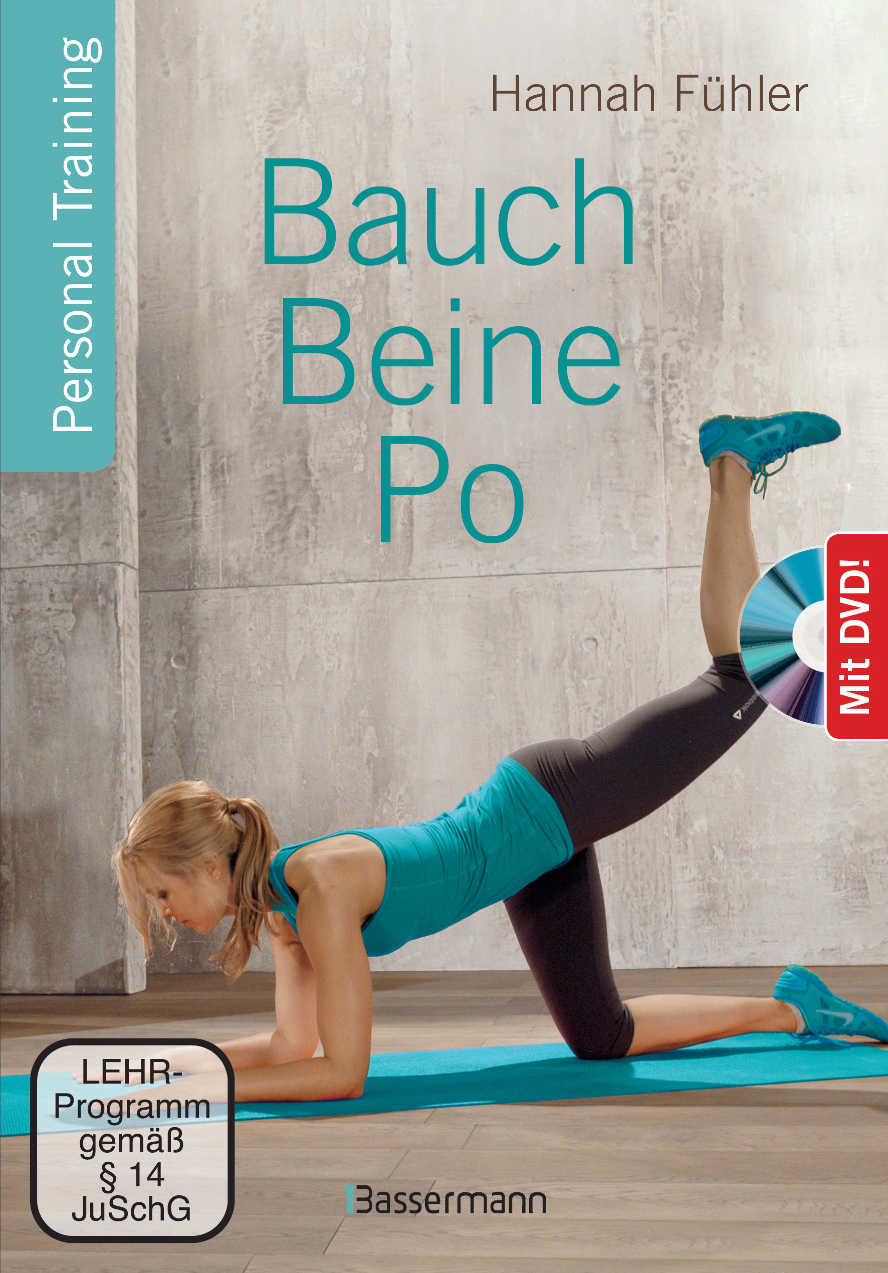 bauch beine po dvd von f hler hannah personal training. Black Bedroom Furniture Sets. Home Design Ideas