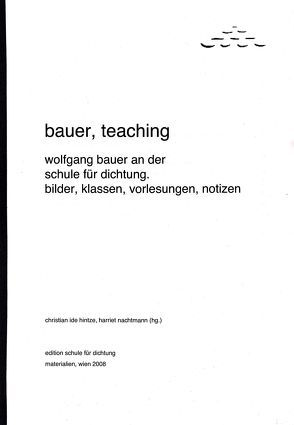 bauer, teaching von Hintze,  Christian I, Nachtmann,  Harriet