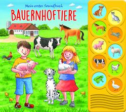 Bauernhoftiere – Interaktives Pappbilderbuch mit 10 lustigen Geräuschen für Kinder ab 3 Jahren