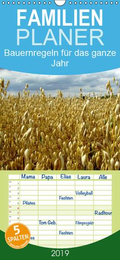 Bauernregeln für das ganze Jahr – Familienplaner hoch (Wandkalender 2019 , 21 cm x 45 cm, hoch) von Hultsch,  Heike