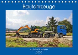 Baufahrzeuge auf der Baustelle (Tischkalender 2020 DIN A5 quer) von Geiger,  Günther
