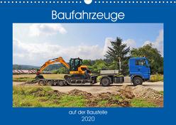 Baufahrzeuge auf der Baustelle (Wandkalender 2020 DIN A3 quer) von Geiger,  Günther