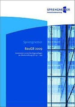 BauGB 2009 von Sprengnetter,  Hans Otto
