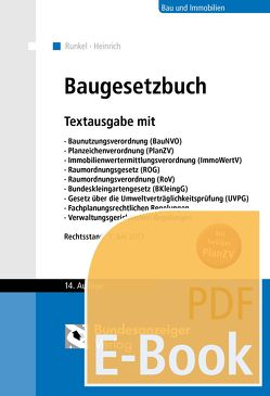 Baugesetzbuch (E-Book) von Heinrich,  Roxana, Runkel,  Peter