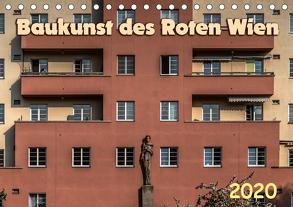 Baukunst des Roten Wien (Tischkalender 2020 DIN A5 quer) von Braun,  Werner