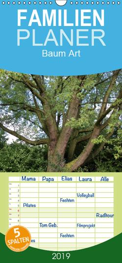 Baum Art – Familienplaner hoch (Wandkalender 2019 , 21 cm x 45 cm, hoch) von Ganz,  Andrea
