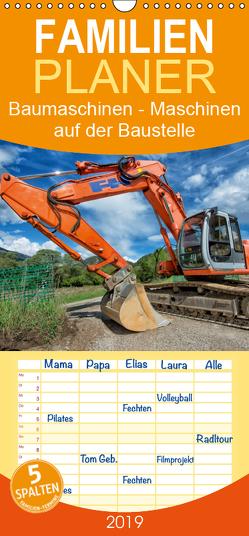Baumaschinen – Maschinen auf der Baustelle – Familienplaner hoch (Wandkalender 2019 , 21 cm x 45 cm, hoch) von Niederkofler,  Georg