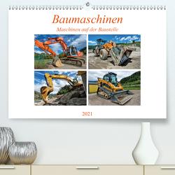 Baumaschinen – Maschinen auf der Baustelle (Premium, hochwertiger DIN A2 Wandkalender 2021, Kunstdruck in Hochglanz) von Niederkofler,  Georg