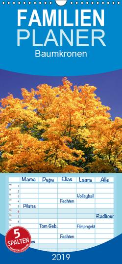 Baumkronen – Familienplaner hoch (Wandkalender 2019 , 21 cm x 45 cm, hoch) von Jaeger,  Thomas