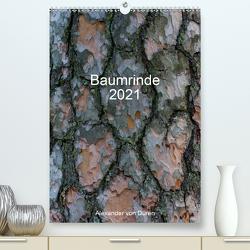 Baumrinde 2021 (Premium, hochwertiger DIN A2 Wandkalender 2021, Kunstdruck in Hochglanz) von von Düren,  Alexander