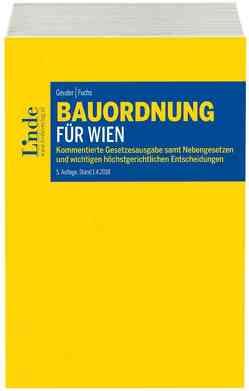 Bauordnung für Wien von Fuchs,  Gerald, Geuder,  Heinrich
