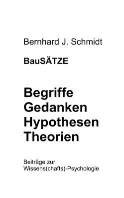 BauSÄTZE: Begriffe – Gedanken – Hypothesen – Theorien von Schmidt,  Bernhard J.